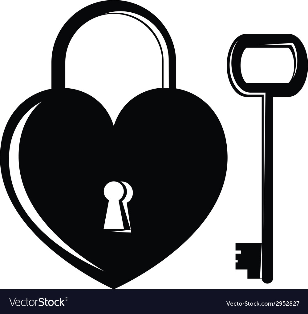 Icon heart on the lock vector | Price: 1 Credit (USD $1)