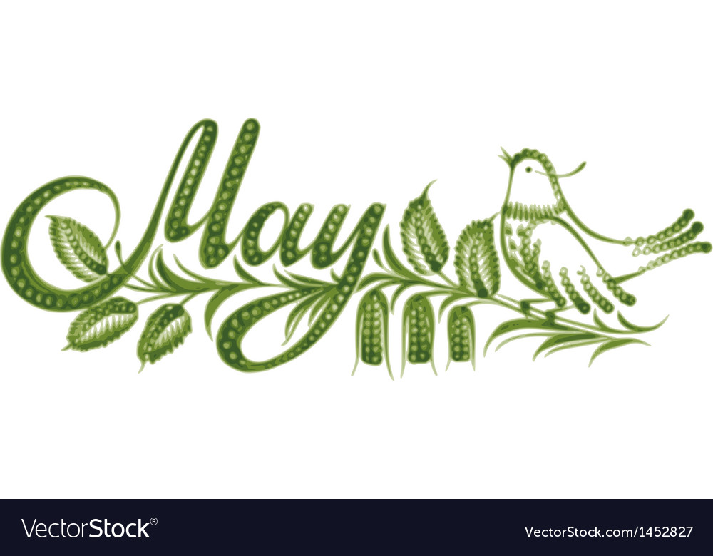 May calendar month vector | Price: 1 Credit (USD $1)
