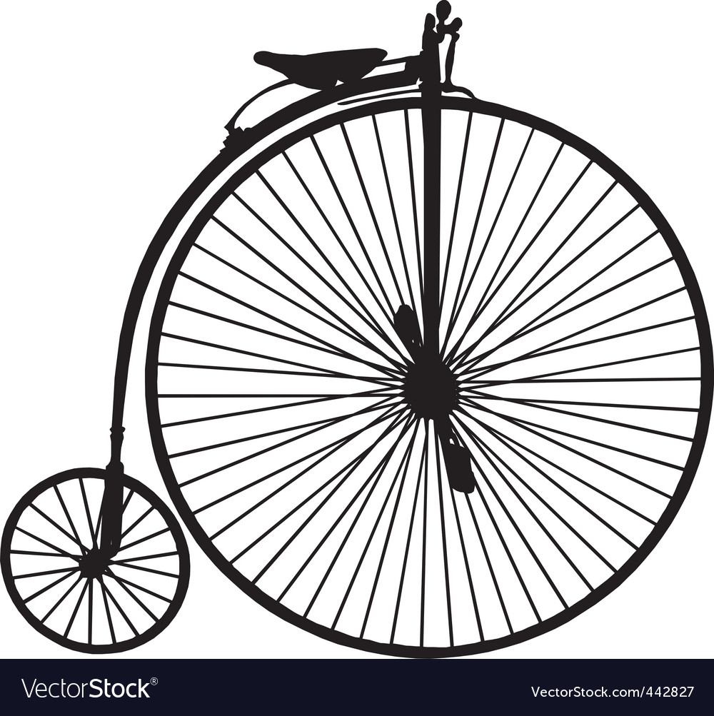 Penny farthing bicycle vector | Price: 1 Credit (USD $1)