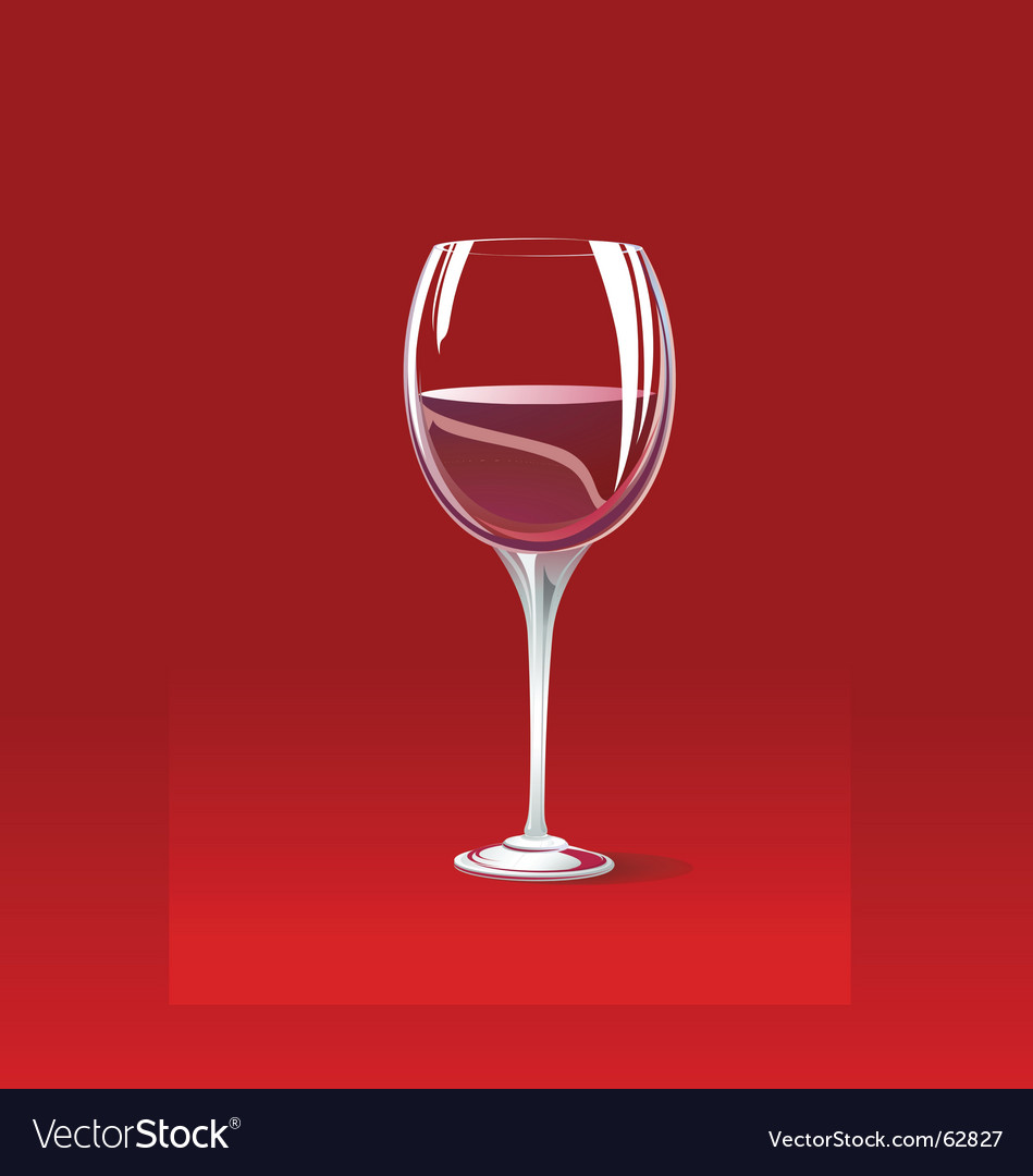 Red wine glass vector | Price: 1 Credit (USD $1)