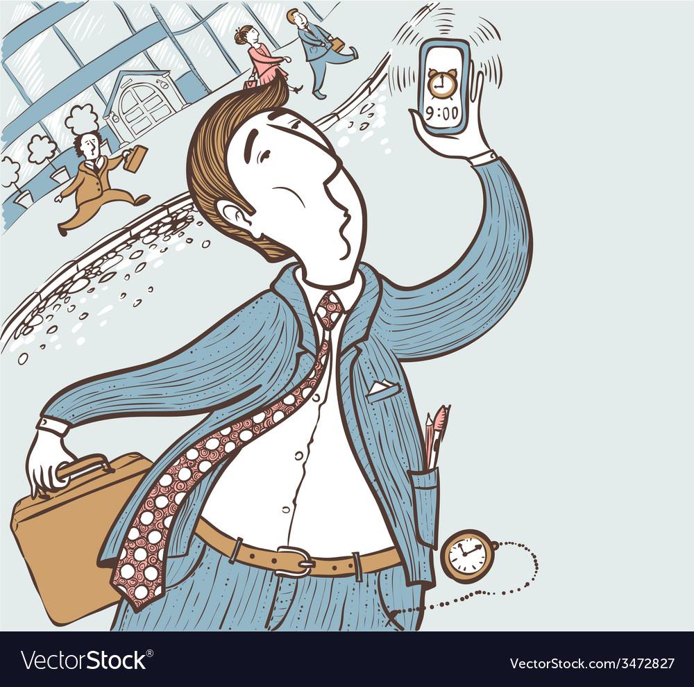 Running businessman vector   Price: 1 Credit (USD $1)