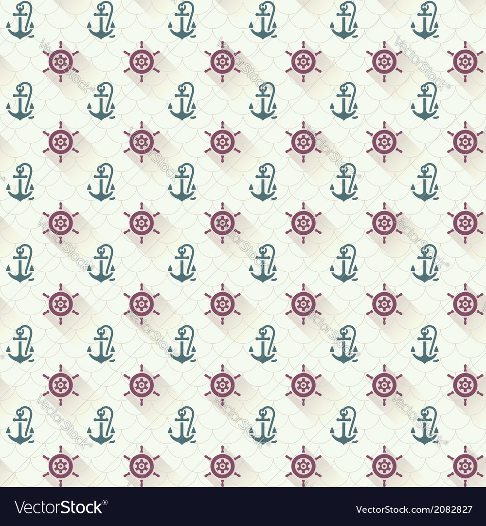 Seamless patterns anchors with shadow vector | Price: 1 Credit (USD $1)