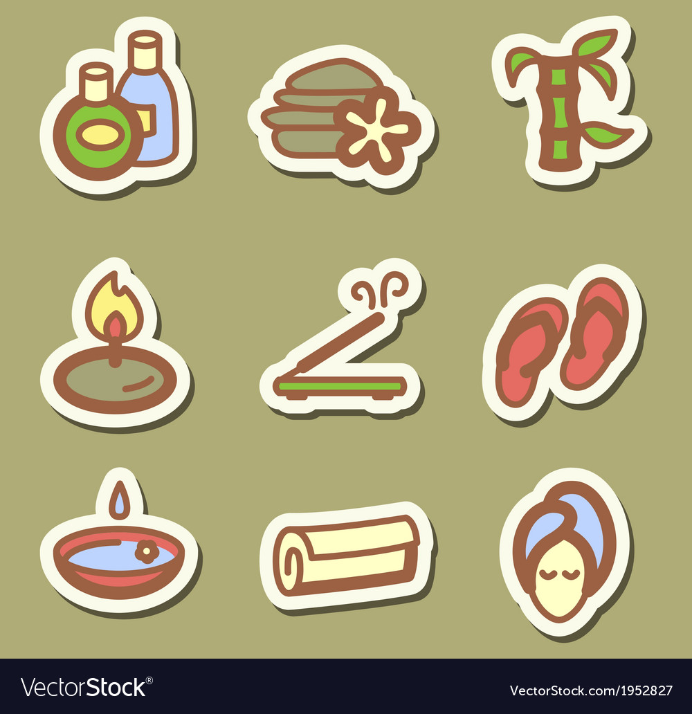 Spa icons vector | Price: 1 Credit (USD $1)