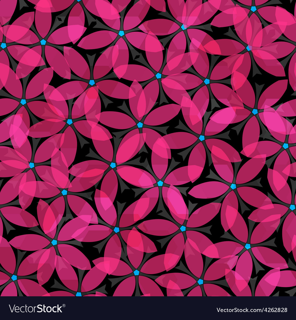 Abstract pink flowers seamless vector | Price: 1 Credit (USD $1)