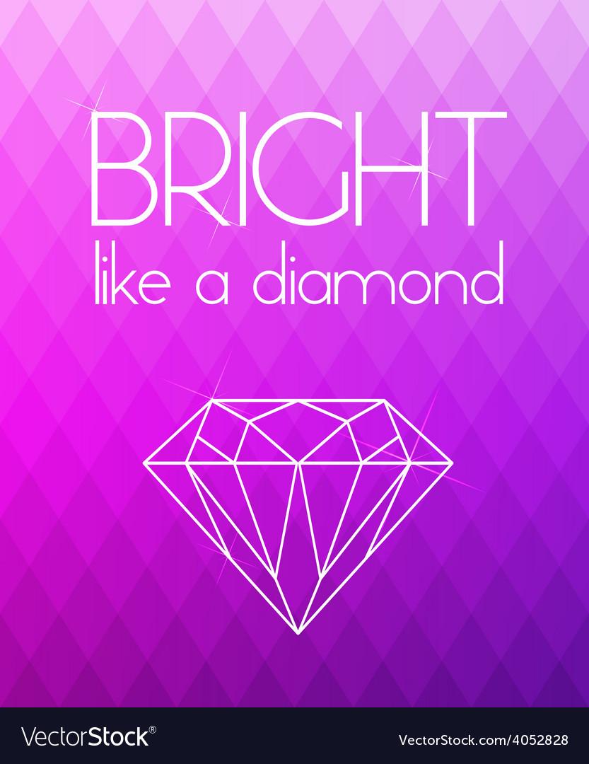 Bright purple rhombus background vector | Price: 1 Credit (USD $1)