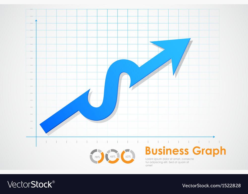 Business profit graph vector | Price: 1 Credit (USD $1)