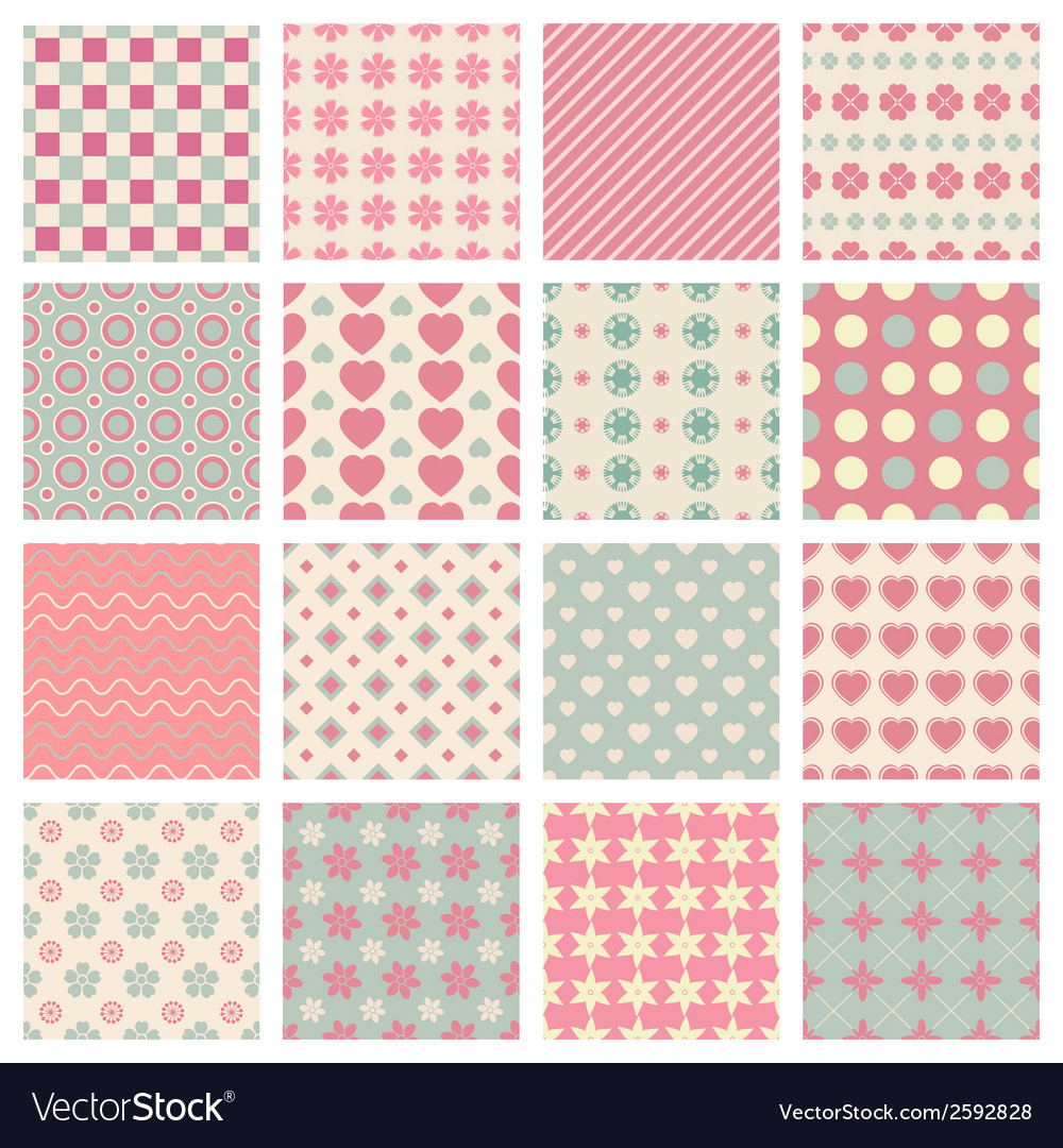 Cute and trendy patterns vector | Price: 1 Credit (USD $1)