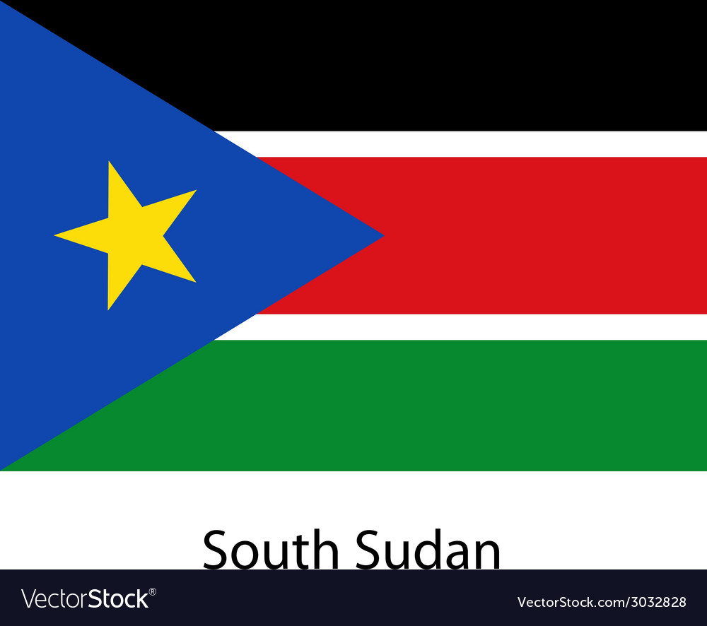 Flag of the country south sudan vector | Price: 1 Credit (USD $1)