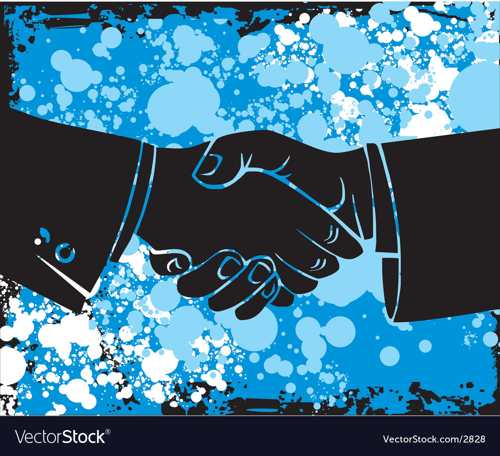 Hand shake vector | Price: 1 Credit (USD $1)