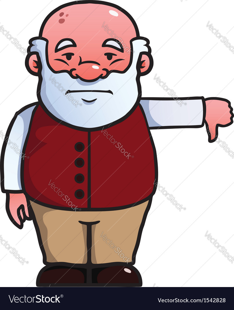 Old man giving a thumbs down vector | Price: 1 Credit (USD $1)