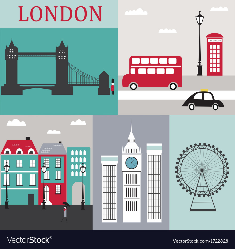 Symbols of london vector | Price: 1 Credit (USD $1)