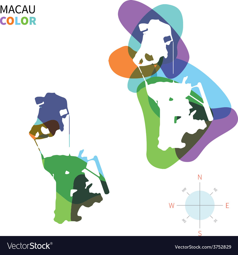 Abstract color map of macau vector | Price: 1 Credit (USD $1)