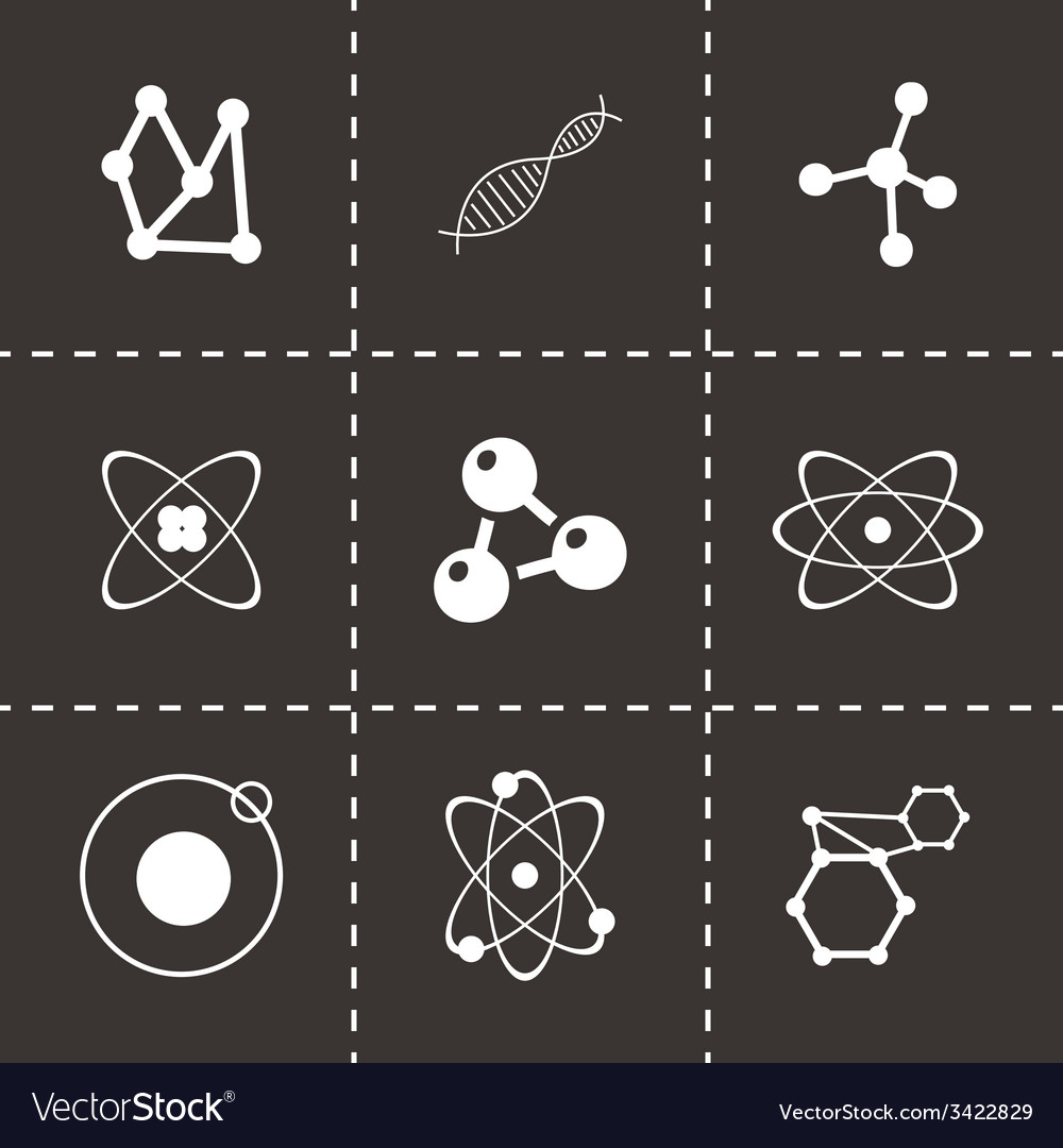 Atom icon set vector | Price: 1 Credit (USD $1)