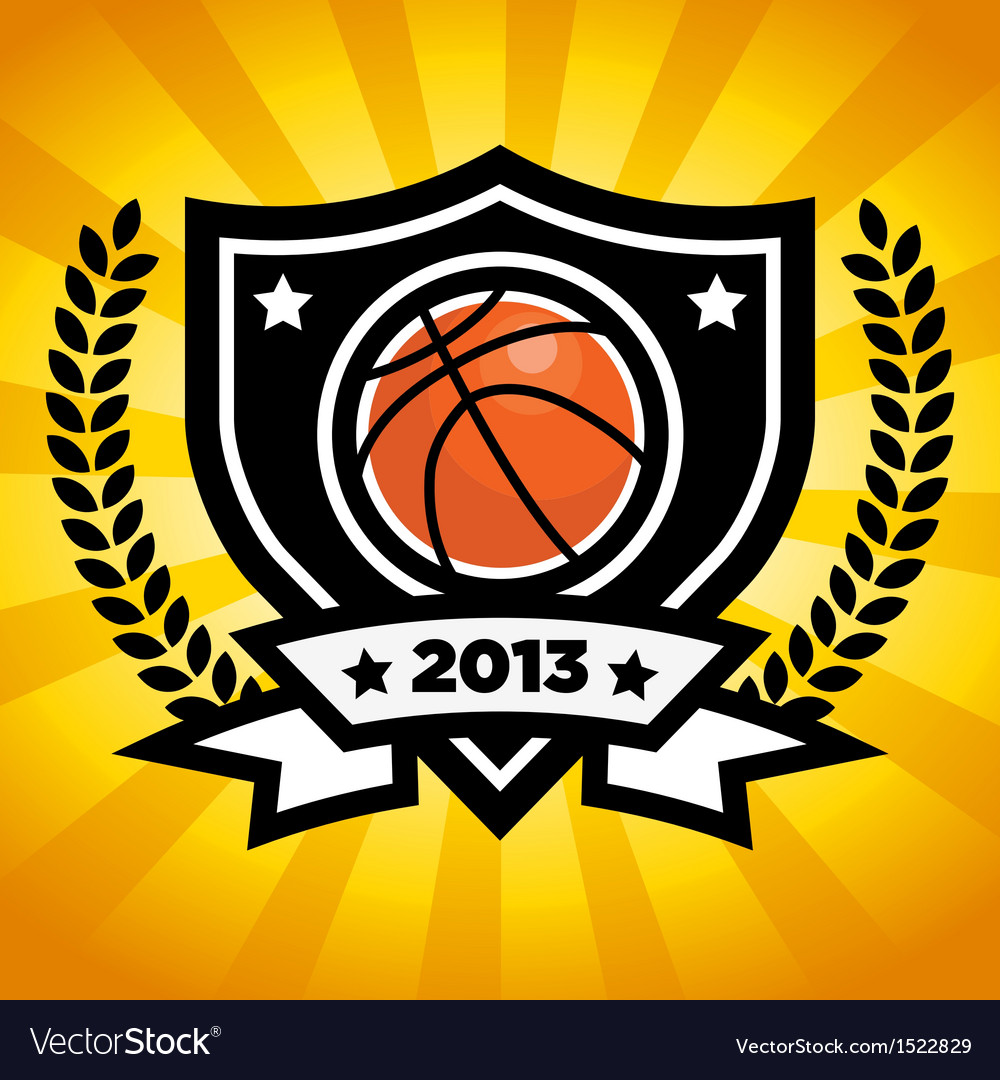 Basketball emblem vector | Price: 1 Credit (USD $1)