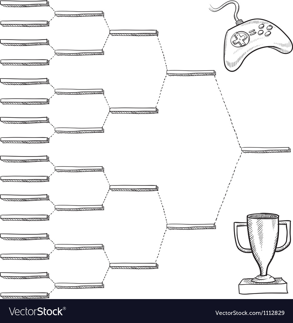 Doodle video game bracket vector | Price: 1 Credit (USD $1)