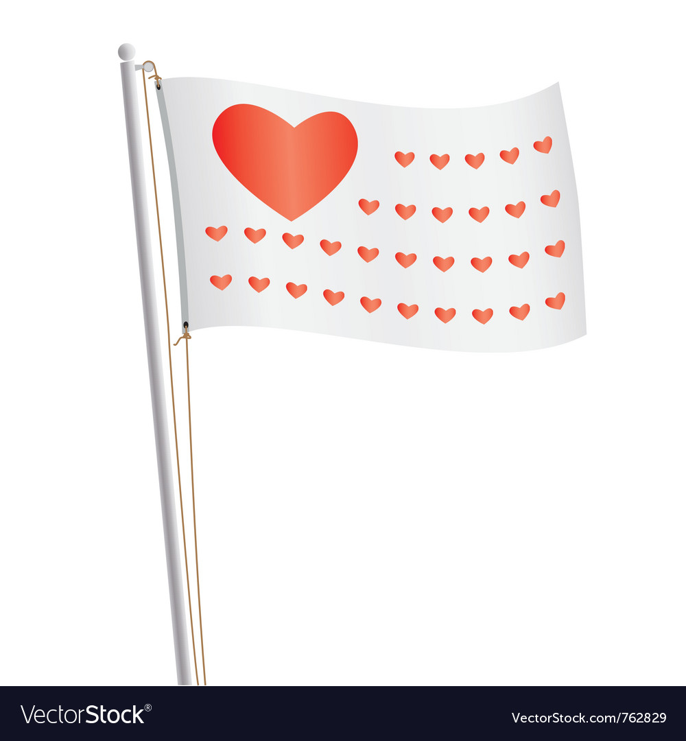Flag of love republic vector | Price: 1 Credit (USD $1)