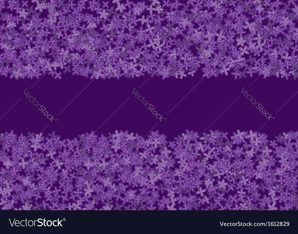 Floral banner with lilac vector   Price: 1 Credit (USD $1)