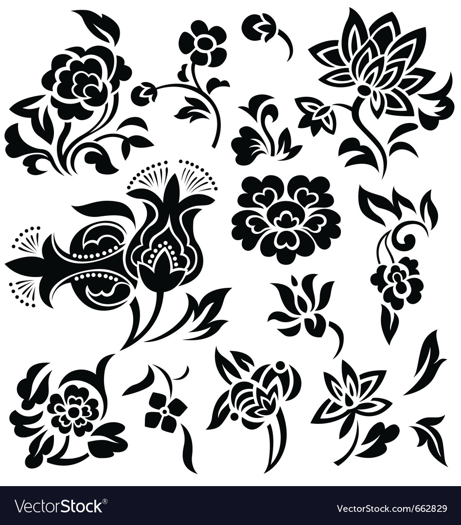 Flower element vector | Price: 1 Credit (USD $1)