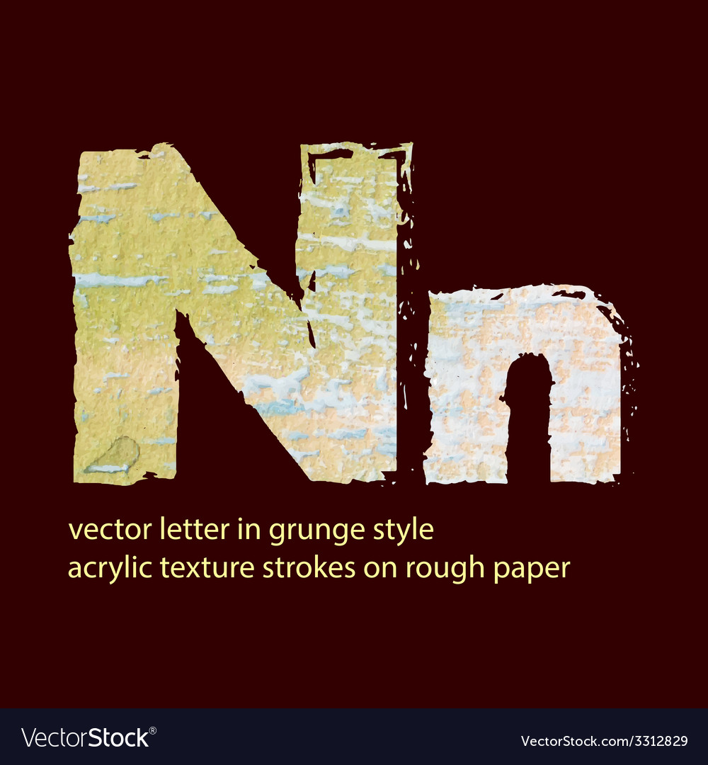 Grungy letter n vector   Price: 1 Credit (USD $1)