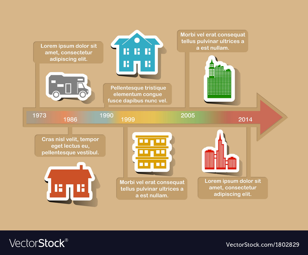 Infographic timeline elements vector   Price: 1 Credit (USD $1)