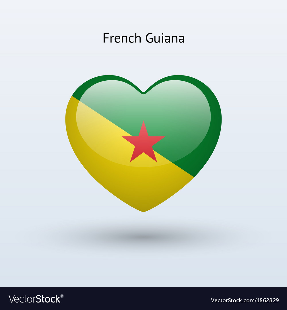 Love french guiana symbol heart flag icon vector | Price: 1 Credit (USD $1)