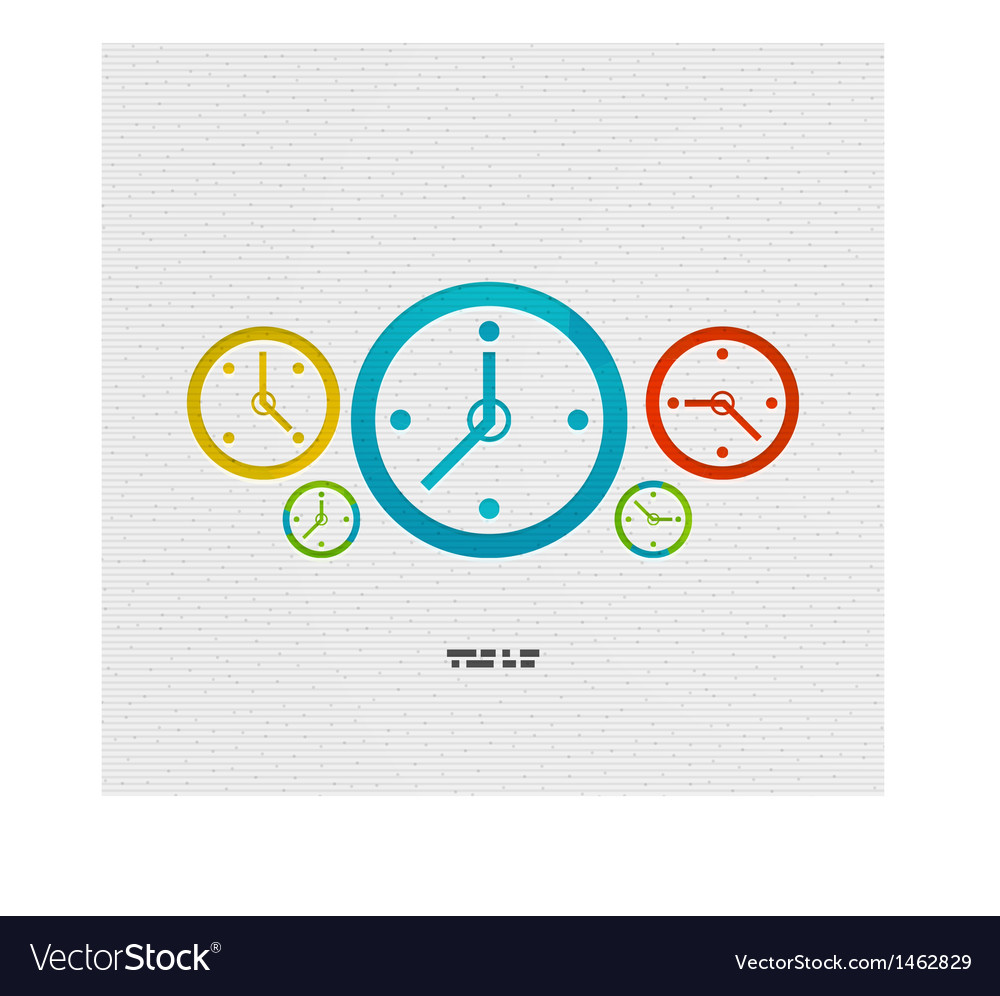 Modern paper design time concept vector | Price: 1 Credit (USD $1)