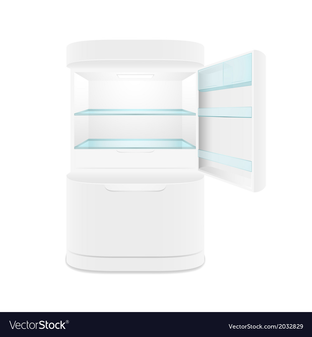 Modern two door white refrigerator vector | Price: 1 Credit (USD $1)