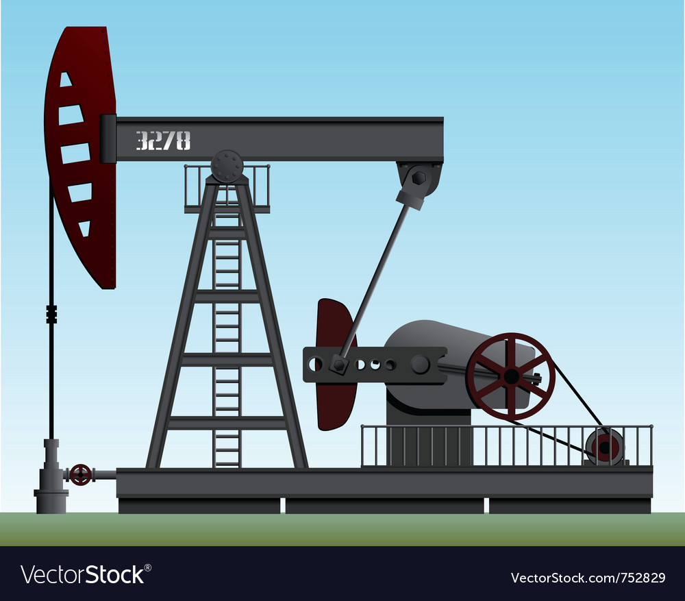 Oil pump vector | Price: 3 Credit (USD $3)