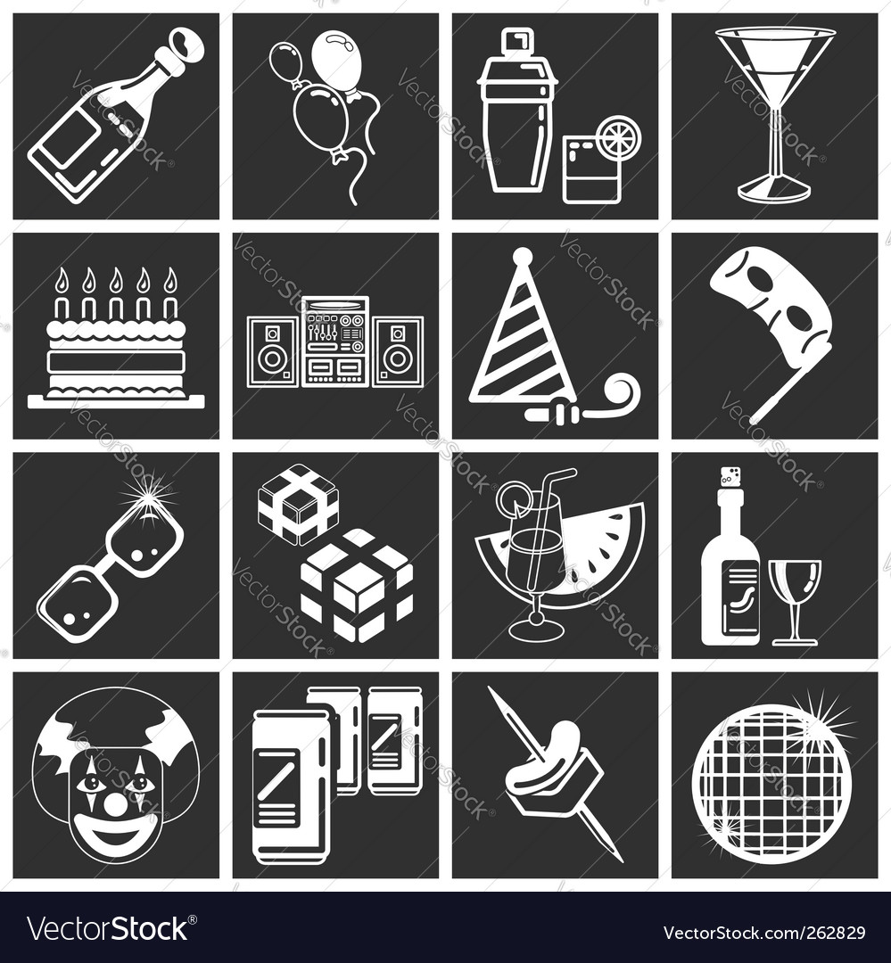 Party icon set series vector | Price: 1 Credit (USD $1)