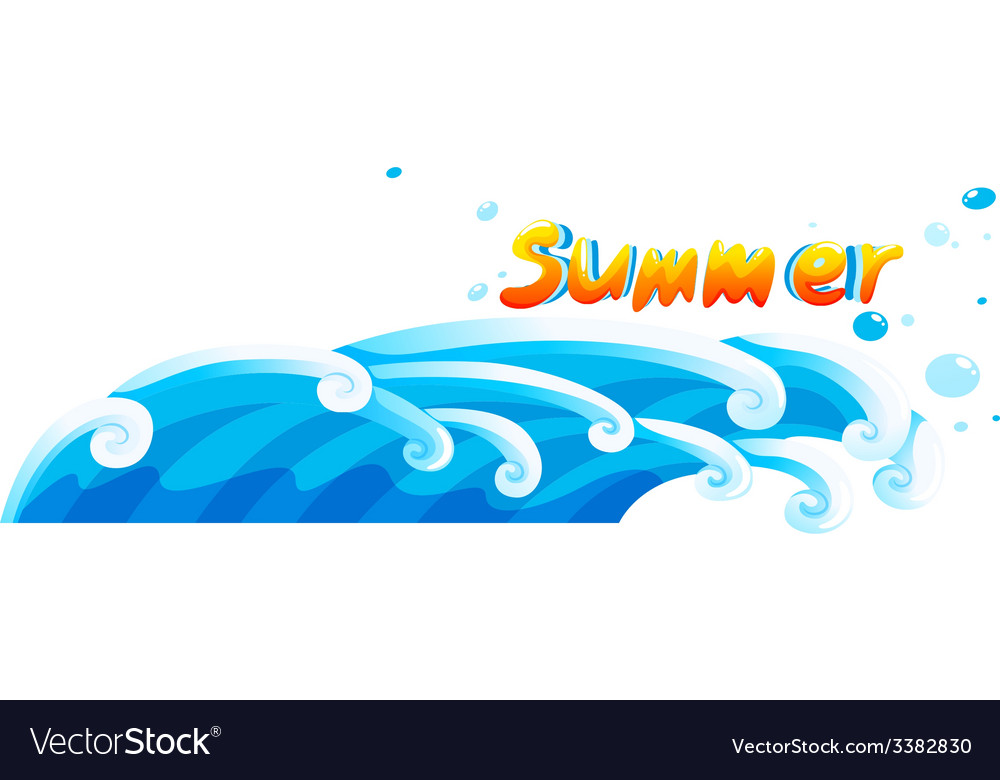 A summer template vector | Price: 1 Credit (USD $1)