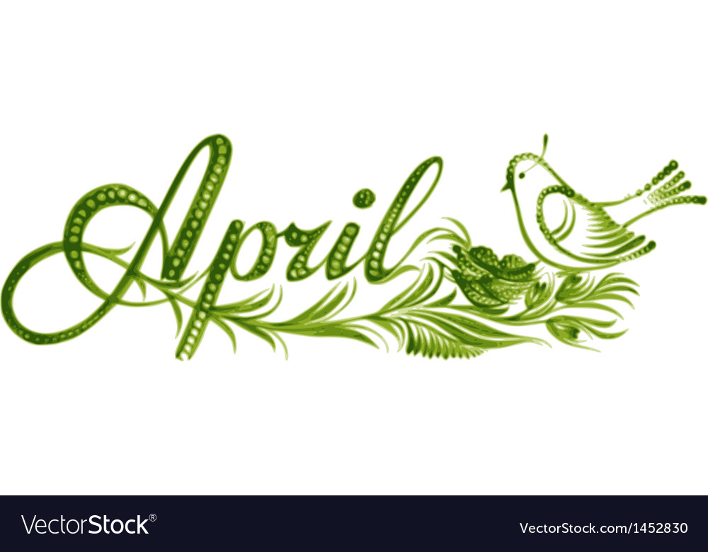 April the name of the month vector | Price: 1 Credit (USD $1)