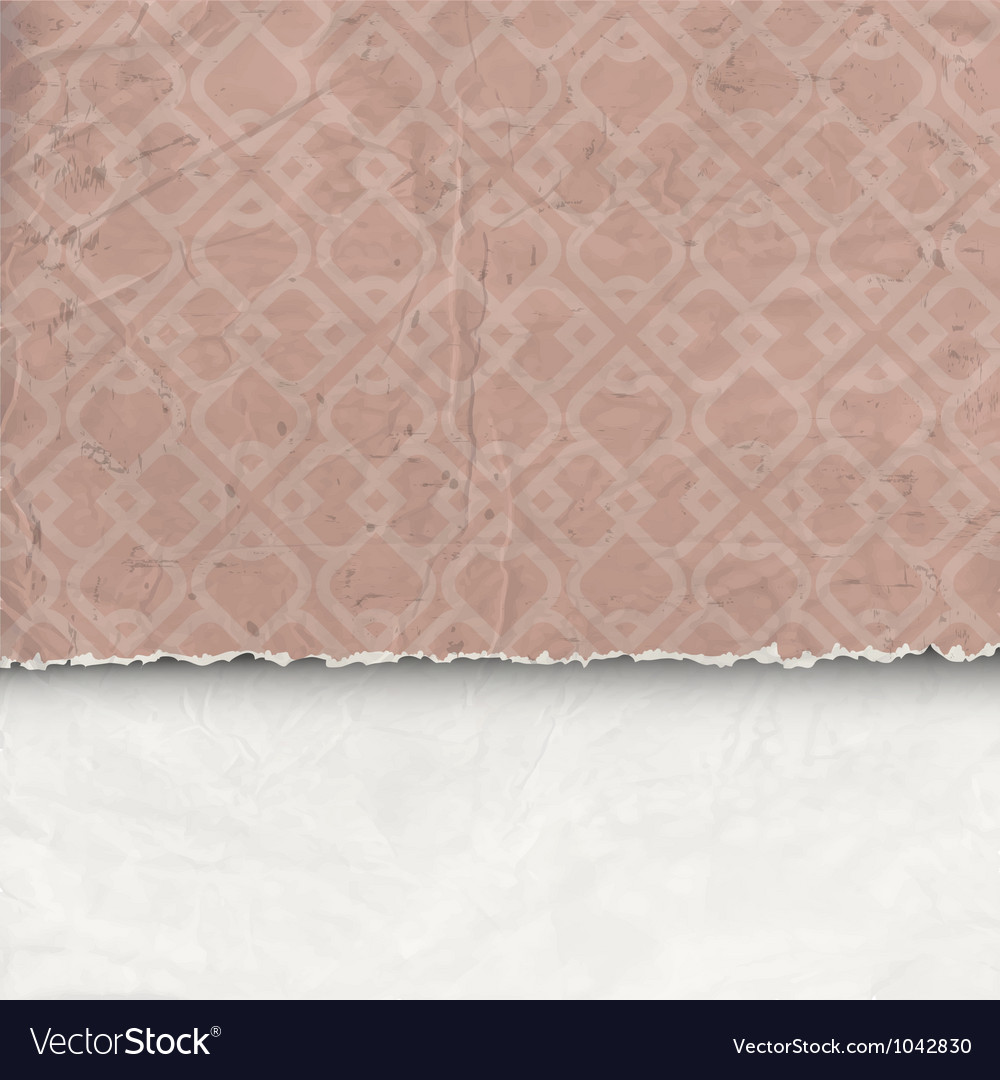 Background of crumpled torn paper vector | Price: 1 Credit (USD $1)