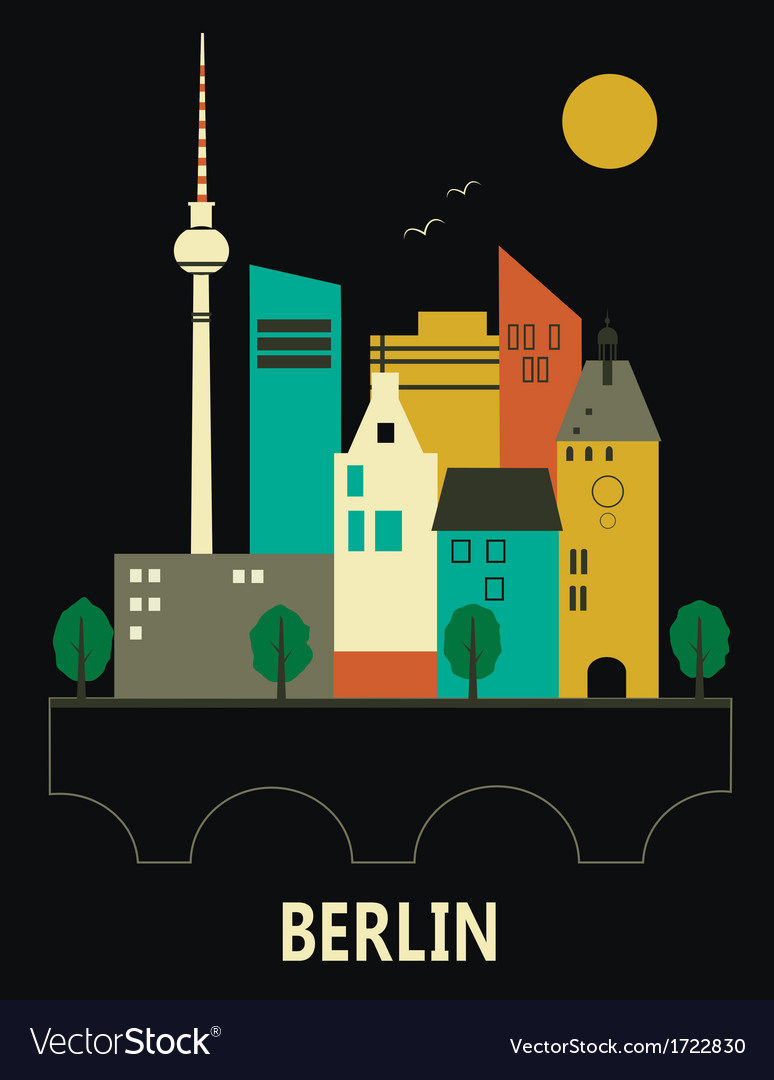 Berlin germany vector | Price: 1 Credit (USD $1)