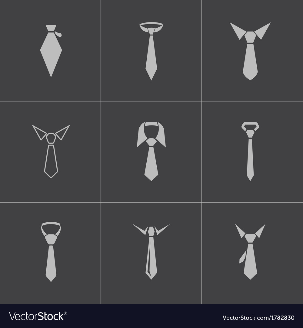 Black tie icons set vector | Price: 1 Credit (USD $1)
