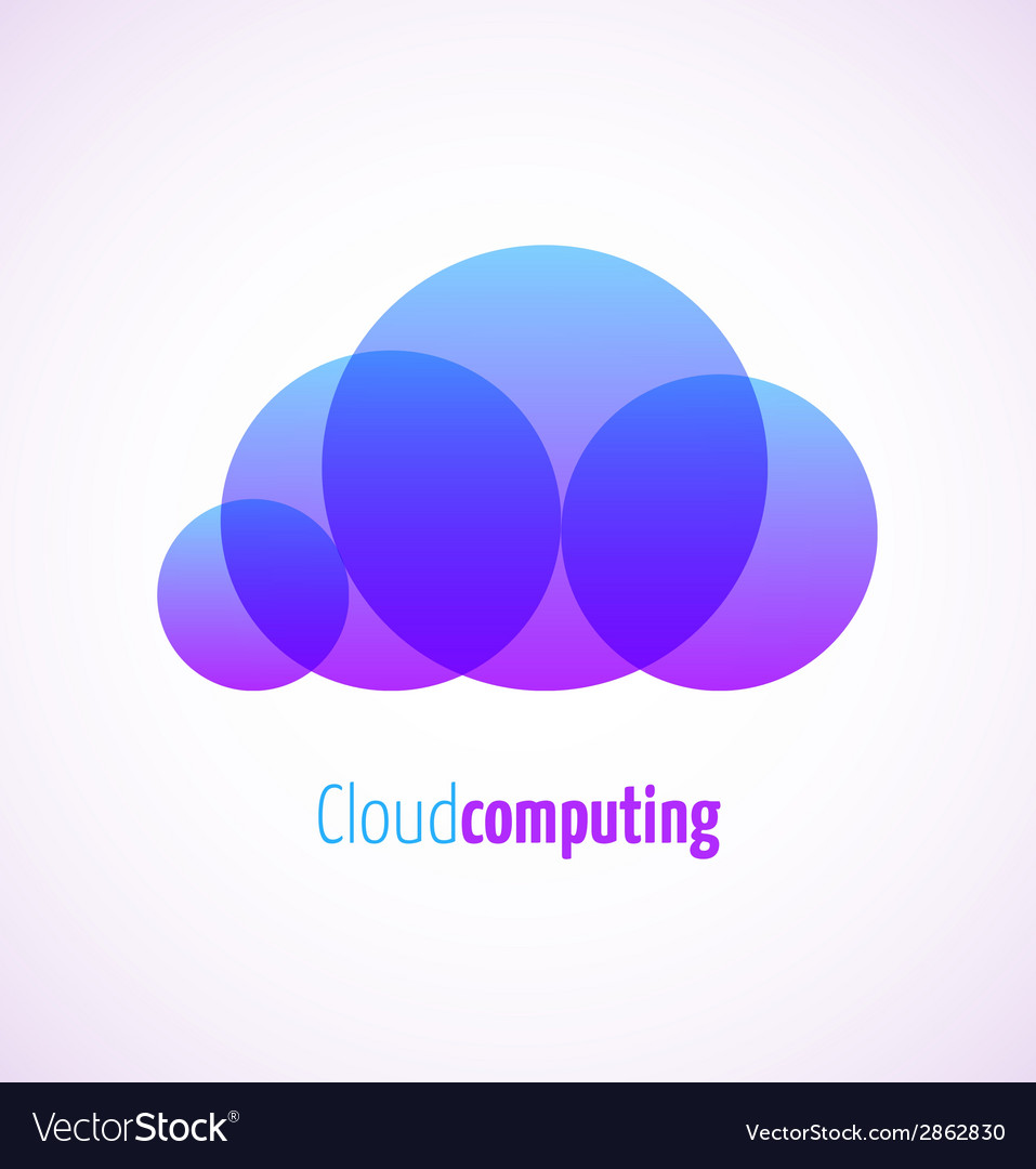 Cloud computing logo template icon vector | Price: 1 Credit (USD $1)