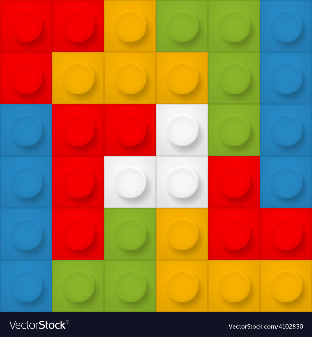 Color constructor blocks seamless background vector | Price: 1 Credit (USD $1)