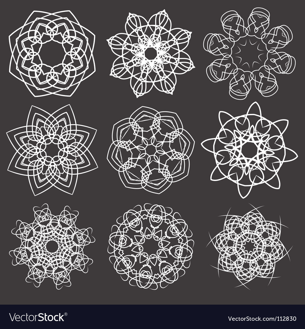 Floral and ornamental elements vector | Price: 1 Credit (USD $1)