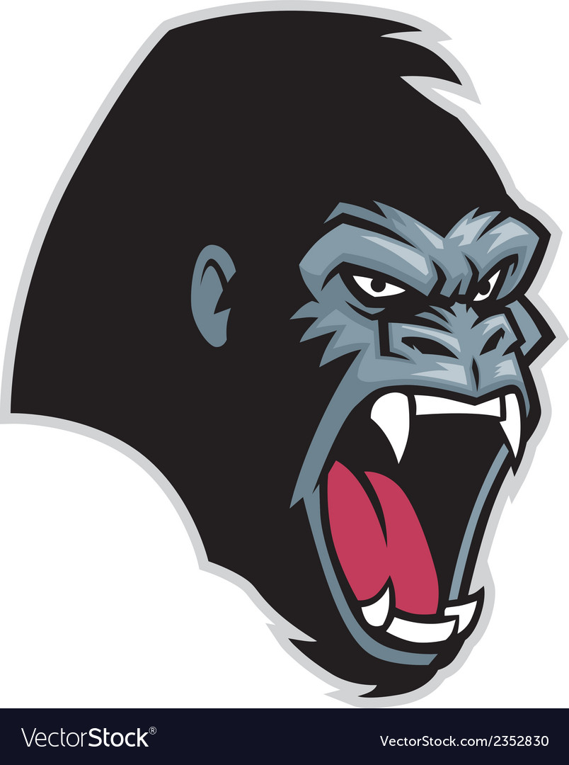 Gorilla head vector | Price: 3 Credit (USD $3)