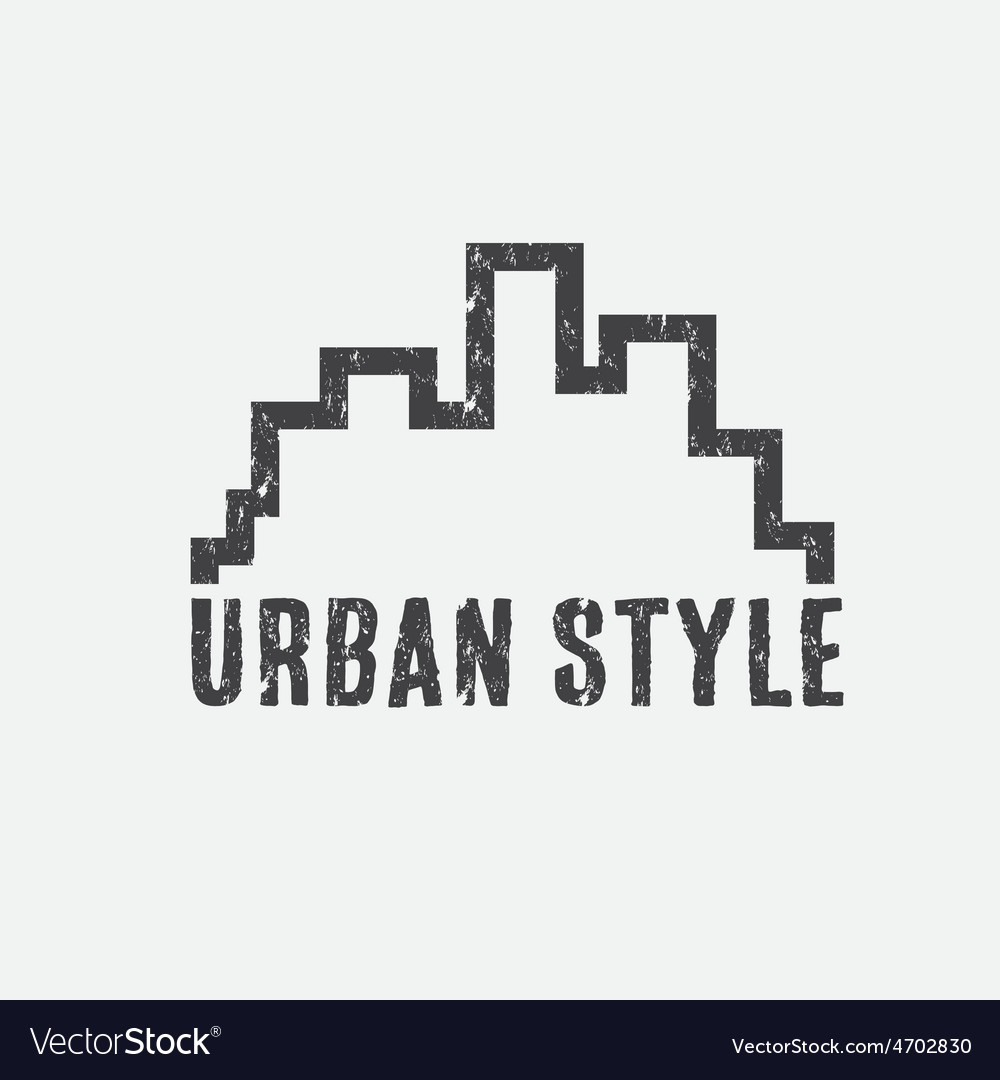 Grunge urban style design template vector | Price: 1 Credit (USD $1)