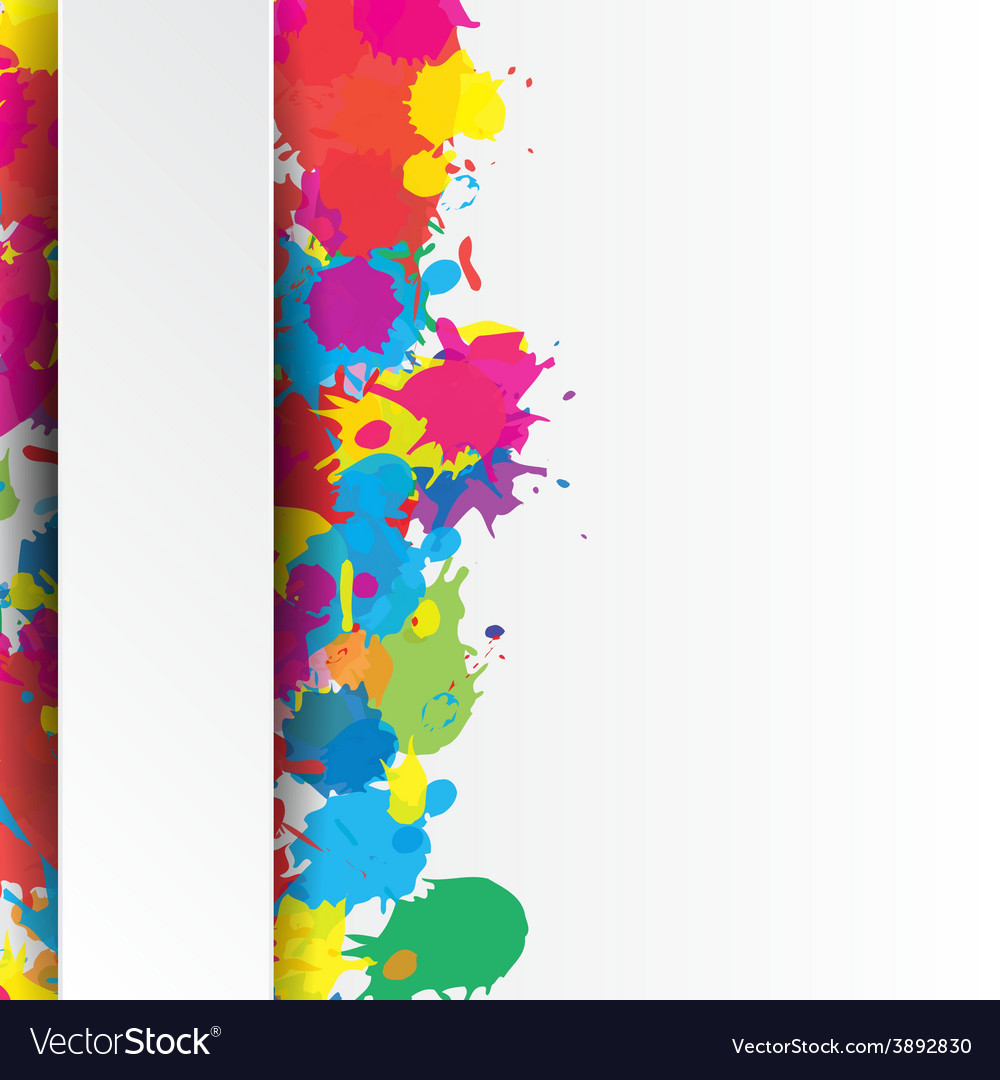 Indian festival background with colors splash vector | Price: 1 Credit (USD $1)
