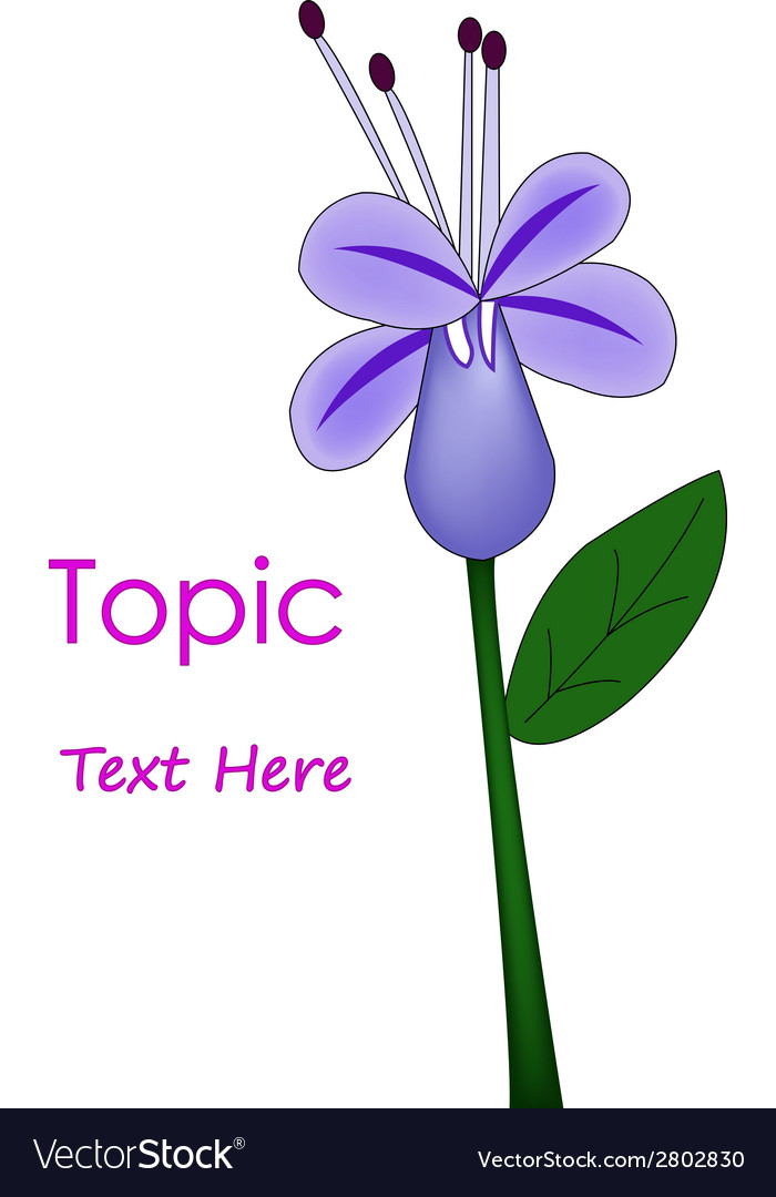 The of purple flower vector | Price: 1 Credit (USD $1)