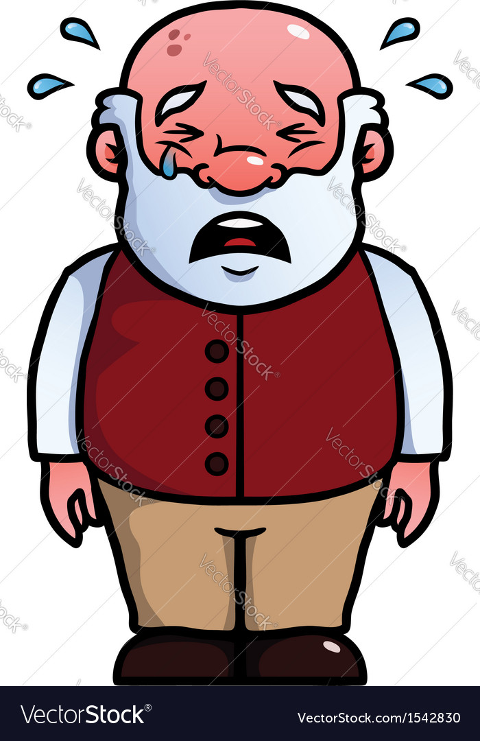 Old man crying vector   Price: 1 Credit (USD $1)
