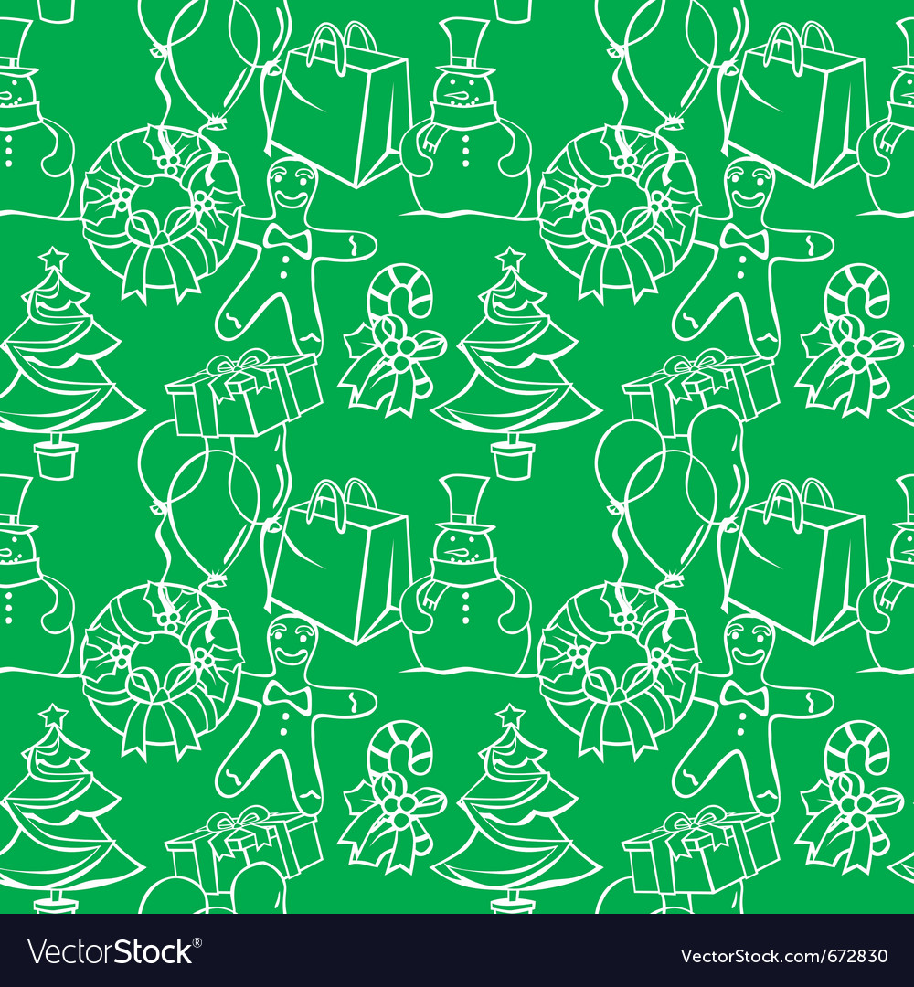 Seamless background with christmass items vector | Price: 1 Credit (USD $1)