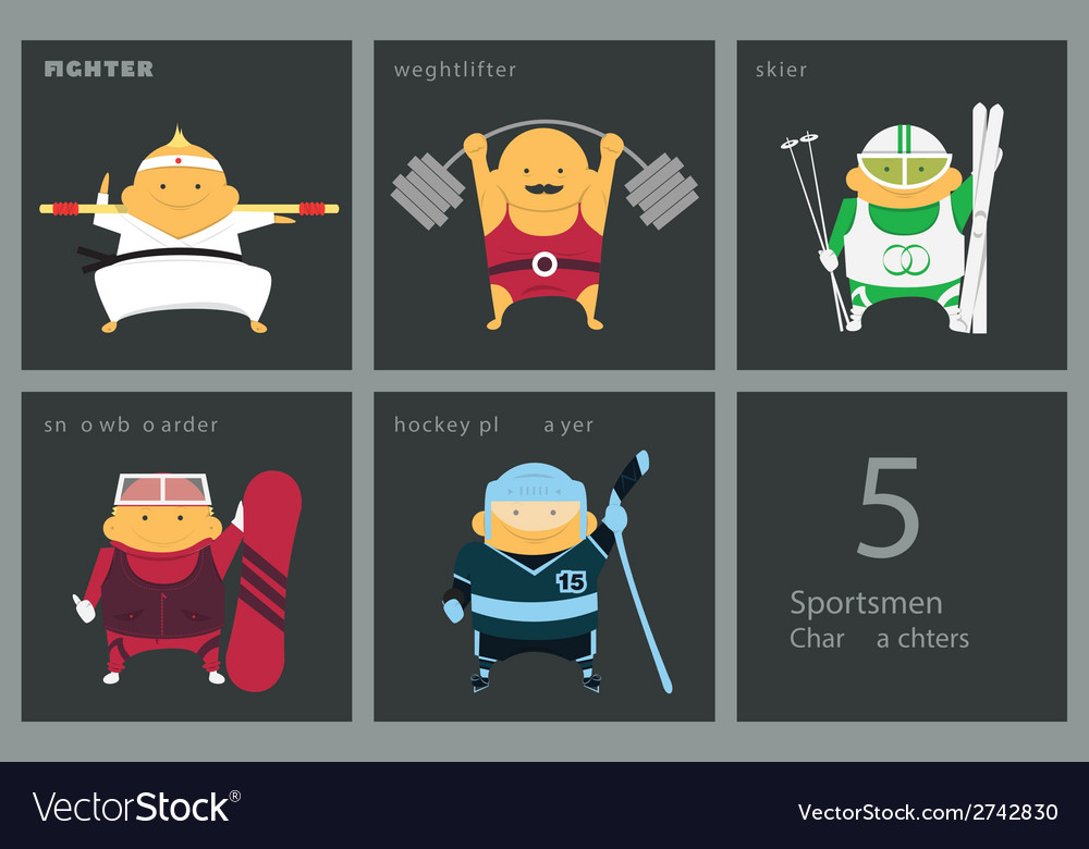Sportsmen set vector | Price: 1 Credit (USD $1)