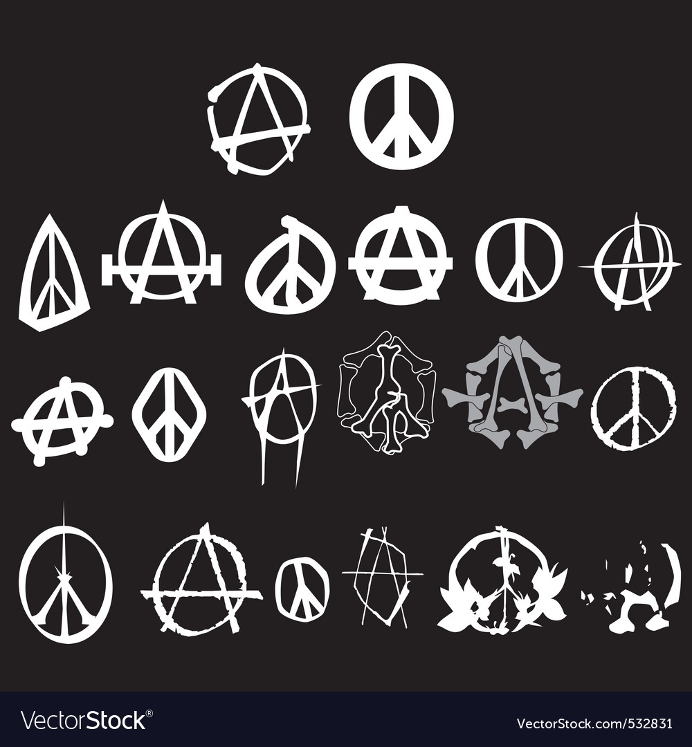 Anarchy peace logo vector | Price: 1 Credit (USD $1)