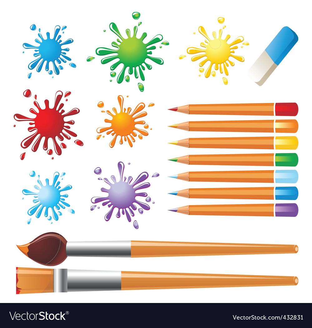 Art tools set vector | Price: 1 Credit (USD $1)