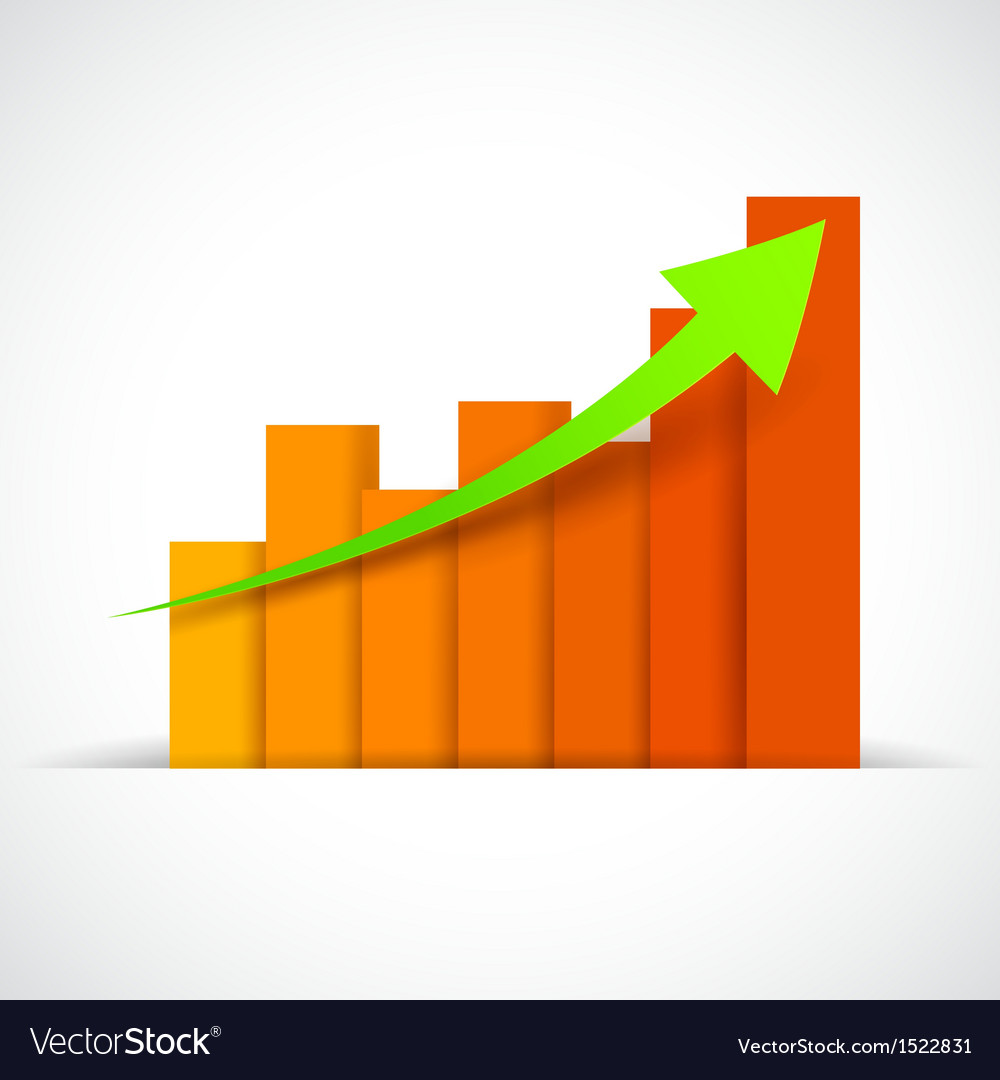 Business bargraph vector | Price: 1 Credit (USD $1)