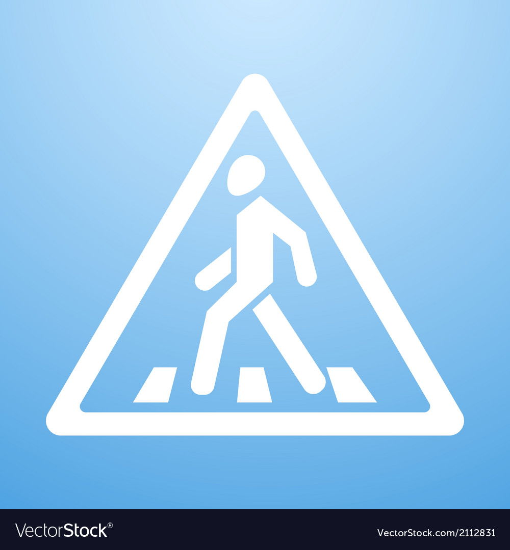 Crosswalk sign vector | Price: 1 Credit (USD $1)