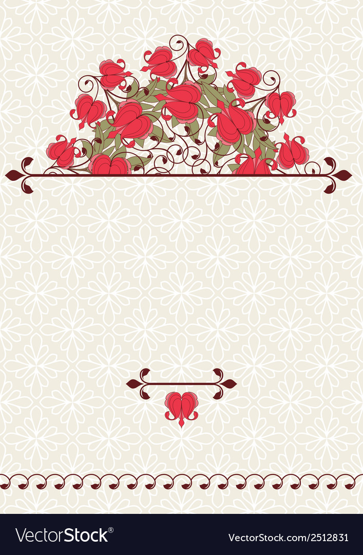 Invitation card with flowers vector   Price: 1 Credit (USD $1)