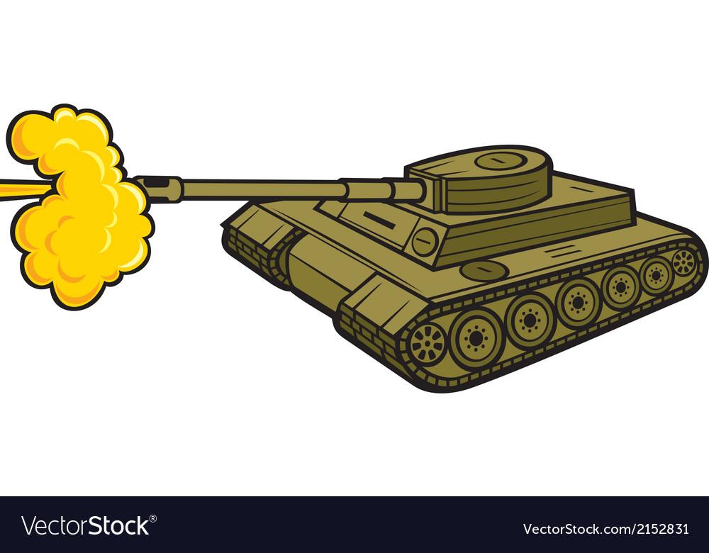 Military tank vector | Price: 1 Credit (USD $1)